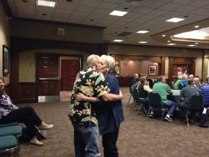 Bill & Kate Lavelle slow dancing to Elvis' crooning.